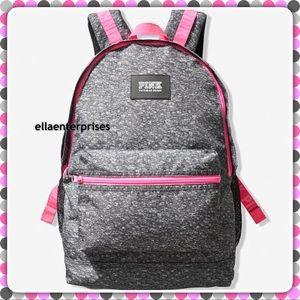 VS Pink Gray Marl Black Hot Pink Campus Backpack